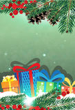 Christmas presents and Christmas tree Royalty Free Stock Photo