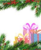 Christmas presents and Christmas tree Stock Image
