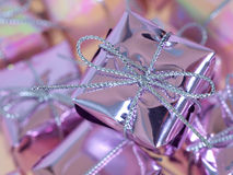 Christmas Presents Closeup Royalty Free Stock Photos