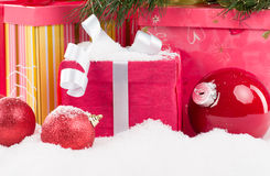 Christmas presents closeup Royalty Free Stock Image