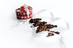 Christmas presents Coffee seeds Stock Images