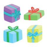 Christmas presents collection. Vector illustration of cartoon gifts Royalty Free Stock Photo
