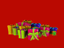 Christmas presents. 3d render of colorful Christmas presents Royalty Free Stock Images