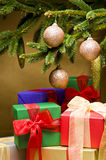 Christmas presents decorated Royalty Free Stock Photo