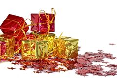 Christmas presents and decoration Royalty Free Stock Images