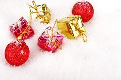 Christmas presents and decoration Royalty Free Stock Photography