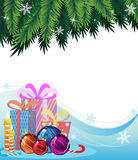 Christmas presents and decorations Royalty Free Stock Photography