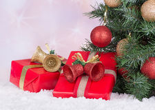 Christmas Presents and Decorations Royalty Free Stock Photos