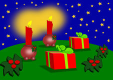 Christmas Presents and Decorations Royalty Free Stock Image