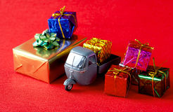 Christmas Presents Delivery Stock Photography