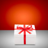 Christmas presents. Gift boxes with ribbons. Stock Images