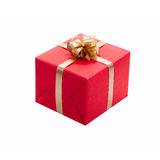 Christmas Presents. Gift Boxes With Ribbons. Stock Photo