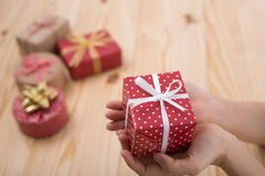 Christmas presents gift Stock Photos