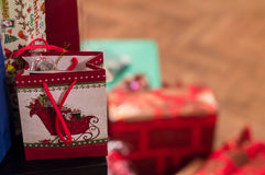Christmas presents. Christmas gifts waiting to be opened Royalty Free Stock Photo