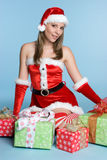 Christmas Presents Girl Royalty Free Stock Images