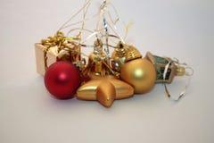 Christmas presents on light background stock image