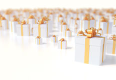 Christmas presents greeting background Royalty Free Stock Photos