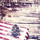 Christmas presents Greeting card close up macro Royalty Free Stock Photos