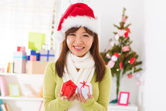 Christmas presents in hand Royalty Free Stock Photography