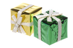 Christmas Presents Isolated Royalty Free Stock Images