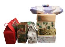 Christmas Presents isolated  Royalty Free Stock Photography