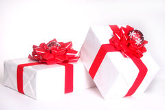 Christmas presents isolated on white Stock Photo