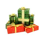 Christmas presents isolated on white background Stock Photo