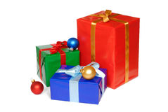 Christmas Presents. Isolated on white background Royalty Free Stock Photos