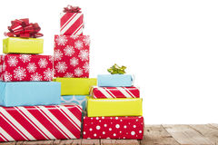 Christmas presents isolated on white background Stock Photography