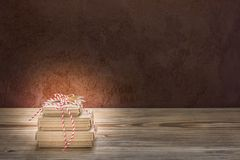 Christmas presents nicely wrapped with a star royalty free stock images