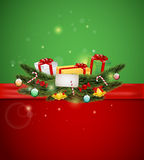 Christmas presents and ornament Royalty Free Stock Photo