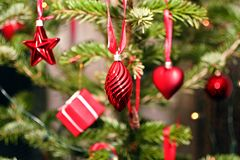 Christmas presents and ornaments Royalty Free Stock Photos