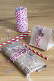Christmas presents packaged Royalty Free Stock Photo