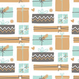 Christmas Presents Pattern Royalty Free Stock Image