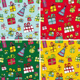 Christmas Presents Pattern Set Royalty Free Stock Images