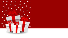 Christmas presents with place for your text Royalty Free Stock Images