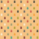 Christmas presents seamless pattern Stock Image