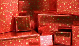 Christmas Presents Series 2 - Wrapped Boxes5. A pile of Christmas presents royalty free stock images