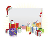 Christmas presents and sign concept Stock Photo