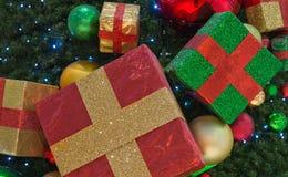 Christmas presents on the tree. Some Christmas presents on the tree stock photography