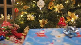 Christmas presents and tree stock video footage