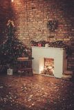 Christmas presents under a tree.  royalty free stock photos