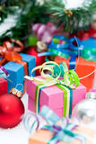 Christmas presents under tree Royalty Free Stock Image