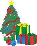 Christmas Presents Under Tree Stock Images