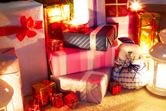 Christmas Presents Under Tree Stock Photos