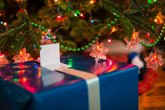 Christmas Presents Under the Tree. Wrapped Christmas Presents Under the Tree stock photography