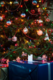 Christmas Presents Under the Tree. Wrapped Christmas Presents Under the Tree royalty free stock photos