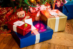 Christmas Presents Under the Tree Stock Photography