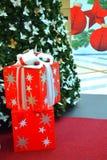 Christmas presents under tree Stock Image