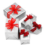 Christmas presents on white Royalty Free Stock Photography